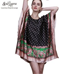 Wholesale Summer Women S Faux Silk - Wholesale- SpaRogerss 2017 Top Summer Style Faux Silk Indoor Clothing Women Pyjamas Women Mini Nightgowns Of Home Clothing For Sleep 10011