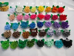 Wholesale Nonwoven China - Brooches With leaves flower Nonwoven fabric corsage brooch pins badge cravat clothes accessories
