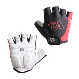 Wholesale Black Padded Sports Wear - Wholesale-Non-Slip Breathable Cycling Gloves Mens Women's Summer Sports Wear Bike Gloves Bicycle Cycle Gel Pad Short Half Finger Gloves