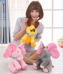 Wholesale Animated Toys - Peek-a-boo Elephant Baby Plush Toy Singing Stuffed Animated Doll Gift Elephant Stuffed Animals Hide and seek Electric music Plush OTH636