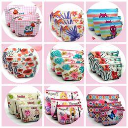 Wholesale Necessaire Makeup - 3 Sets Of Suits Unicorn Flamingo Cosmetic Bag Large Size Makeup Bag Necessaire Travel Bags Make Up Bag Toiletry Kit KKA3029