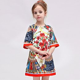 Wholesale Baby High Quality Dress - High Quality Girls Princess Dress High-end Custom Jacquard Dress Summer Children Clothing Baby Girls A-line Skirt