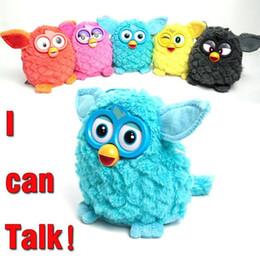 Wholesale Colors Elf - 6 Colors 18cm Interactive Owl Electronic Toys Phoebe Electric Pets Owl Elves Plush Toys Recording Talking Toys Party Favors CCA7638 10pcs