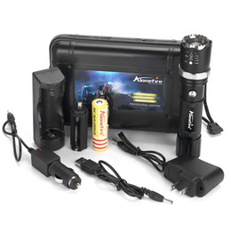 Wholesale Cree Night Light - ALONEFIRE X22 CREE XPE Q5 LED Rotate Zoomable Attack head Night light LED Flashlight Torches with battery USB charger accessories