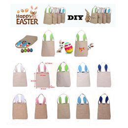 Wholesale Funny Bunnies - 5 Colors Funny Design Easter Bunny Bag Ears Bags Cotton Material Easter Burlap Celebration Gifts Christma Bag 2017 Hot Sale Handbag