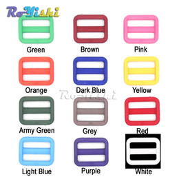 """Wholesale Wholesale Dog Collar Buckles - 100pcs lot 1""""(25mm)Colorful Triglides Adjust Buckle For Dog Collar Harness Backpack Strap"""