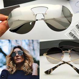 Wholesale Sunglasses Transparent Men - Women Designer Sunglasses Frameless Round Vintage Frame Top Quality Transparent Clear Lens Stereoscopic lens UV Protection eyewear 65TS