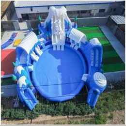Wholesale Fun City - 2017 Trending Inflatable Products Water Park Outdoor Inflatable Cartoon Castle Hot Selling Kids Inflatable Amusement Park Fun City for Sale
