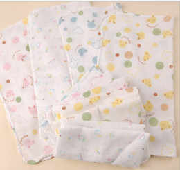 Wholesale Small Bibs - 25 * 25 high density printing double gauze handkerchief towel baby feeding small square scarf baby bibs
