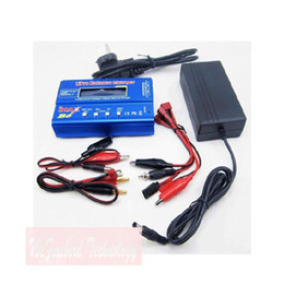 Wholesale Rc Battery Balance Charger - 80W iMAX B6 Lipo NiMh Li-ion Ni-Cd RC Battery Balance Charger Discharger + 15V 6A AC Power Adapter
