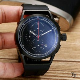 Wholesale Mens Watches Big Bang - High Quality Men Watch 47MM All Racing car Work Wholesale Quartz Battery Luxury Watches Top Brand Rubber Strap Big Bang Gift for mens 6750