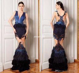 ee9b066e74ad hourglass shape dress 2019 - Luxury Feather Celebrity Dresses See Through V  Neck Mermaid Shape Sheer