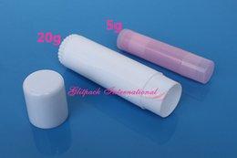 Tubos de bálsamo labial vazio frete grátis on-line-O envio gratuito de 100 pçs / lote Alta qualidade 20g Batom Tubo tamanho Grande Tubo De Bálsamo Branco Vazio Lip Gloss Container Lip Tube