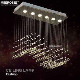 Wholesale Curtain Light Chandelier Crystal - Fast Shipping Crystal Chandelier Light crystal curtain wave light fitting for Dining room, bedroom, foyer and ceiling MD8495