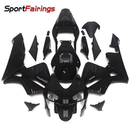 Wholesale Motorcycle Decals For Honda - Injection Fairings For Honda CBR600RR F5 Year 03 04 2003 2004 Plastics ABS Motorcycle Fairing Kit Bodywork Cowling Gloss Black Red Decals