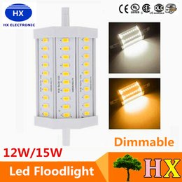 Wholesale Led R7s 15w - r7s led 118mm 12W 15w High power dimmable r7s led 118mm light 15W R7S led lamp replace 150w halogen lamp AC85-265V free shipping
