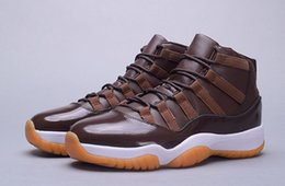 bonne marque de chaussures de sport Promotion Nouveau 2016 en gros 11 72-10 Chocolat hommes chaussures de basketball hommes sport 11s baskets marque bottes hautes bonne qualité taille 40-47