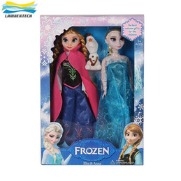Wholesale Cheap Christmas Gifts Toy - 3Pcs Set Lot Cheap Frozen Anna Elsa olaf Toys Princess Dolls Action Figures 11 Inch Elsa Anna Nice Christmas Gift For Kids Girls Free DHL