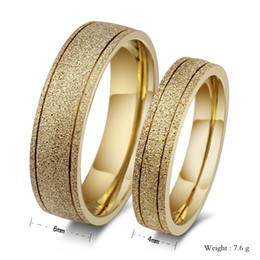Wholesale Korean Gold Jewellery - Custom Classic Golden Matte ring Jewellery Korean (think you) 18K Gold Ring Titanium Stainless Steel Frosted