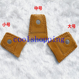Wholesale Leather Tools Handmade - Synthetic Leather Coin Thimble With Metal Tip DIY Sewing Tool Handmade Needlework