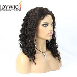 Wholesale Indian Virgin Remy Bangs - 2016 Hot Sale Unprocessed Brazilian Virgin Human Hair Full Lace Wig Glueless Lace Front Wigs With Bangs Bleached Knot For Black Women