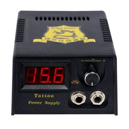 Wholesale Digital Tattoo Power Supply Pedal - Solong Tattoo New Pro LCD Digital Tattoo Power Supply +Foot switch + Clip cord for Tattoo Machine Gun Needle Grip P142-3