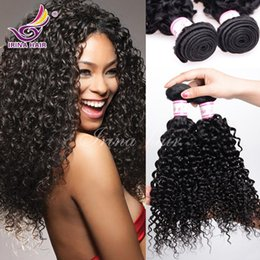 Wholesale New Curly - 50%Off!New Curly Hair Extensions 100% Brazilian Virgin Hair Kinky Curly 3pcs lot Peruvian Malaysian Indian Mongolian Kinky Curly Hair Weaves