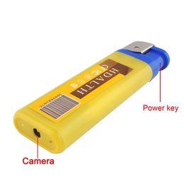 Wholesale Wholesale Security Equipment - 5pcs lot 32GB 720P Lighter Hidden Spy Camera Spy equipment Nanny Cams Secret Cameras Mini Video Security Camera Hidden Surveillance Cameras
