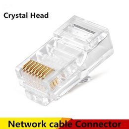 Wholesale High Quality Patch Cables - 8P8C RJ45 Modular plug connector for Network cable Patch cable connectors Crystal Head high quality