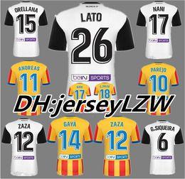 Wholesale Cf Shirt - Top Thai quality 2017 2018 valencia white Home Rugby jersey shirt 17 18 valencia Rugby jersey cf SHIRTS valencia cF shirt