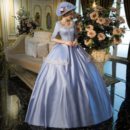 100%real cinderella blue venice carnival ball gown Medieval Renaissance  Gown queen costume Victorian dress Marie Antoinette Belle ball fa59a27776ac