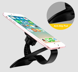Wholesale Abs Vehicle - Car Dashboard Hub Clip Adjustable Holder Magnetic Magnet Vehicle Bracket Mount Holder ABS Plastic For iPhone X iPhone 5 6 7 7 Plus