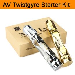 une cigarette électronique Promotion Vaporisateur AV Twistgyre Starter Kit Kit Avidlyfe livré avec AV Twistgyre Mod et RDA fit 18650 batterie Cigarette électronique DHL Free TZ705
