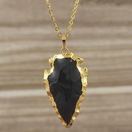 Pendentif noir bails en Ligne-Pendentif flèche en obsidienne noire flèche avec bords plaqués or Bail, agate flèche noire Agate pendentif en quartz Druzy SD48_31