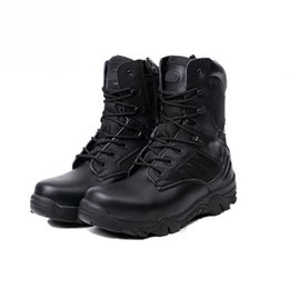 Wholesale Army Combat Boots - New Sport Army Men Combat Tactical Boots Outdoor Hiking Desert Leather Ankle Boots Military Male Combat Shoes Botas Hombre