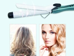Wholesale Kc Led - Curling Iron Hair Curler Wand LED Display PTC Tourmaline Ceramic Heating Barrels for Hair Curling Styling magic hair curler