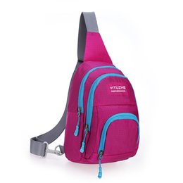Wholesale Walking Sling - Fashion Women Chest Bag Nylon Diagonal Package Unbalance Backpack Waterproof Casual Style Outdoor Hiking Walking sling chest bag