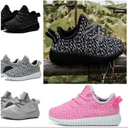 Wholesale Cheap Toddler Rubber Boots - kids West 350 Boost sneakers baby Boots Shoes Running Sports Shoes booties toddler shoes cheap Sneakers Training B003