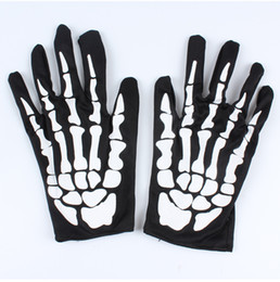 Wholesale Skeleton Halloween Gloves - Hot halloween Skeleton ghost claw gloves gloves costumes Cosplay for adults free shipping in stock