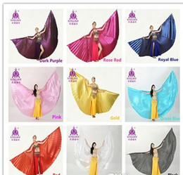 Wholesale Egyptian Wings - 11 colors for chosen Belly Dance Wings Angle Wings Egyptian Egypt Belly Dance Costume Isis Wings Dance Wear Accessories (no stick)