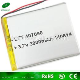 2019 li 3.7v comprimido bateria do li-polímero 407090 3000mah lipo bateria 3.7 v para tablet pc desconto li 3.7v comprimido