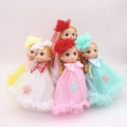 Wholesale Gift Wrapped Toys - 18cm Genuine confused doll kit, a set of dolls, girls birthday gift wrap,key rings, Children's gifts 5pcs barbie doll