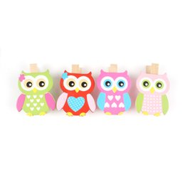 Wholesale Cute Craft Buttons - home decoration wood owl crafts decor 50mm pattern cute buttons