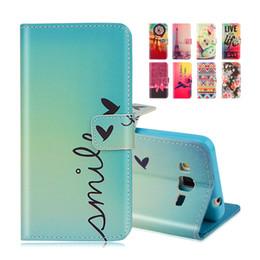 галактический чехол для телефона Скидка Wholesale-Cartoon Printing Wallet Leather Case For  Galaxy Grand Prime G530 G5306 G530H G531H G531F G5308W Magnetic Cover Phone Bag