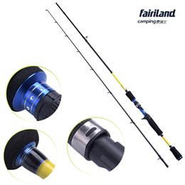 Wholesale Wholesale Power Poles - 8Pcs Lot 1.83m 1.98m 2.1m Casting Fishing Rod High Carbon M ML Power Casting Spinning Fishing Pole Lure Fishing Tackle