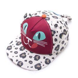 Wholesale Korean Bonnet Hat - Children's hats children's hats summer embroidery hip leopard flat brimmed hat wholesale Korean bonnet