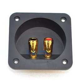 Wholesale Push Wire Terminal - Speaker push terminal,terminal connector,Round 68mm 204a speaker wiring box speaker box terminal block copper column Free Shipping