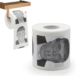 Wholesale Wholesale Toilet Novelties - Donald Trump Funny Toilet Paper Obama Humour Toilet Paper - Novelty Gag Hilarious Political Collectors Item gift