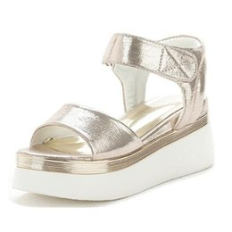Wholesale Cheap Silver Flat Sandals - 2017 New Fashion Ladies Sandals Muffin Fish Mouth Thick High Quality Cheap Brand Shoes Free Shipping