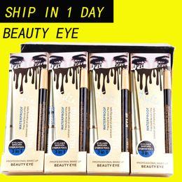 Wholesale Eye Lashes Mascara - New Kylie Waterproof Mascara Eyeliner Eyebrow Pencil 3in1 False Lash Effect Kylie Jenner beauty eye cosmetics DHL Shipping MR445